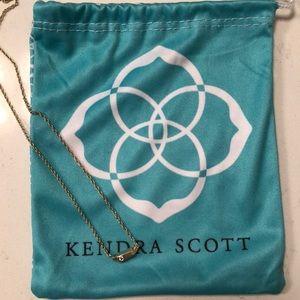Kendra Scott gold bar necklace
